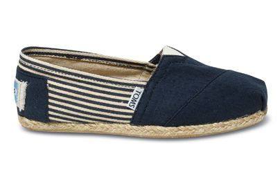 a6d93520d52 Tom s University Navy Rope Sole Classics  Love the shoes