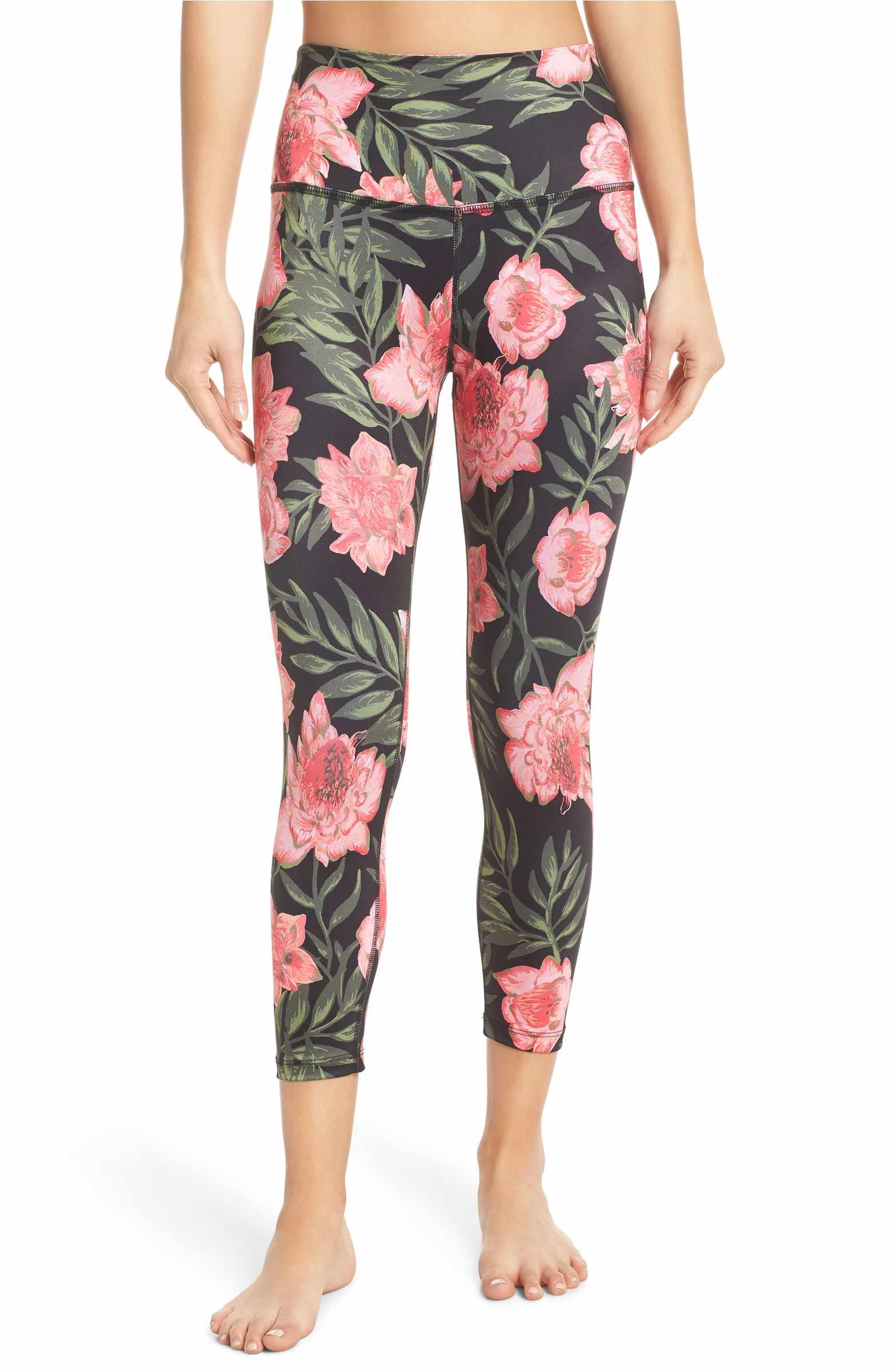 2eb037d82d Main Image - Beyond Yoga Lux Floral Print High Waist Capri Leggings ...