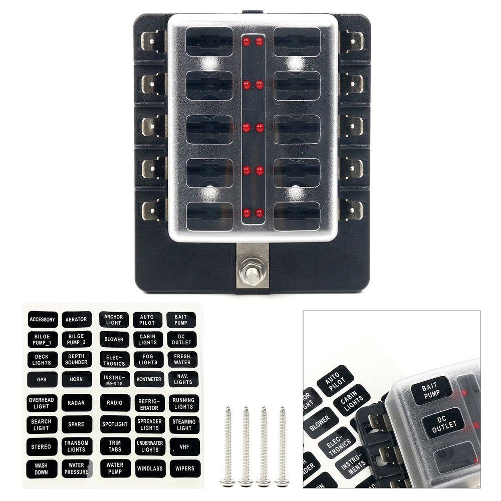 small resolution of ebay sponsored yaetek 10 way terminals circuit atc ato car auto blade fuse box block holder