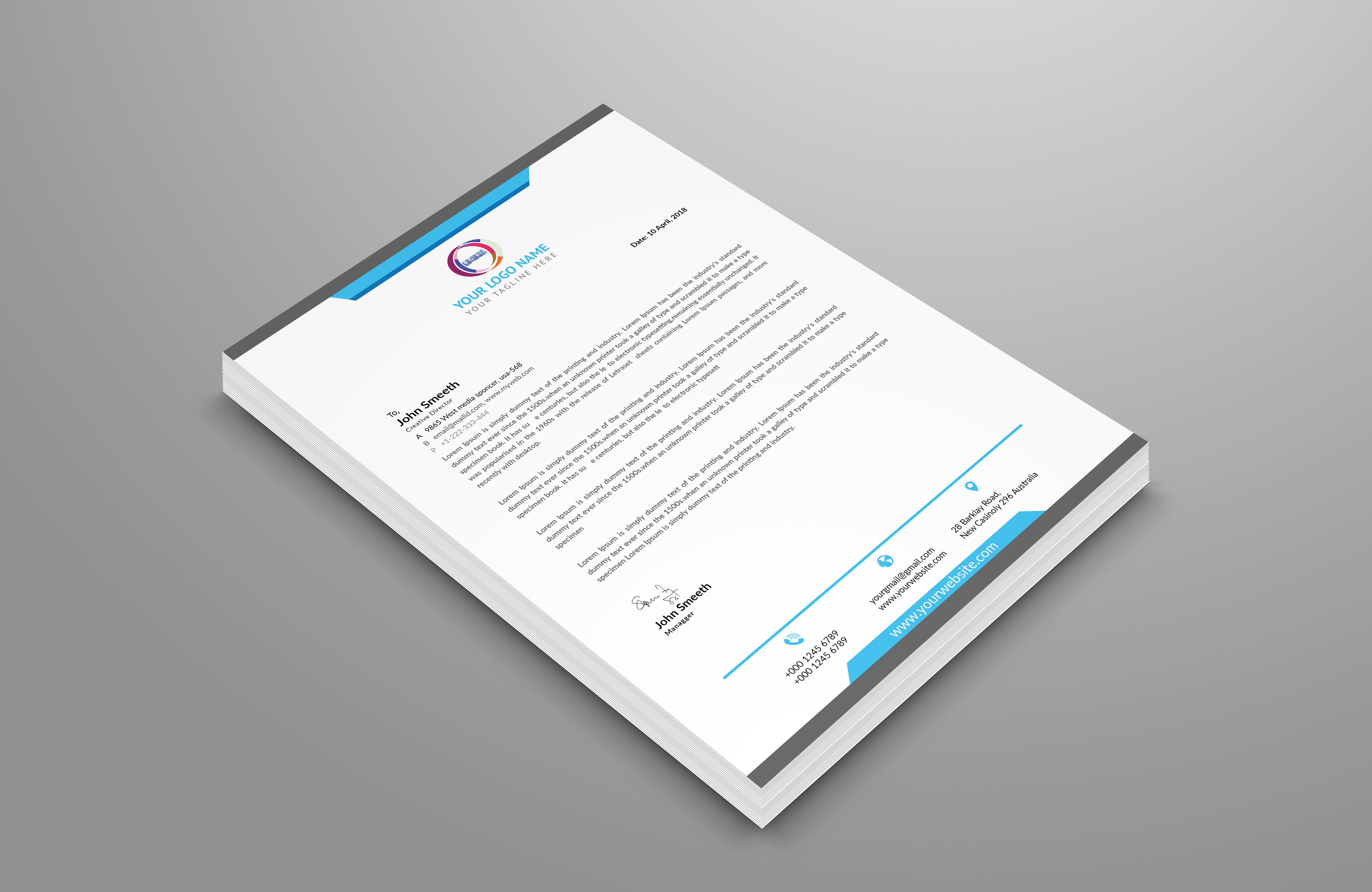 Looking for a Letterhead Design? Click the image. #graphic ...