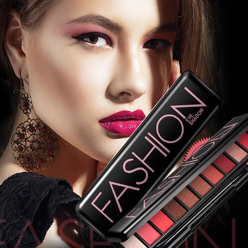 10 Colors Eye Shadow Palette Eyeshadow makeup, Warm