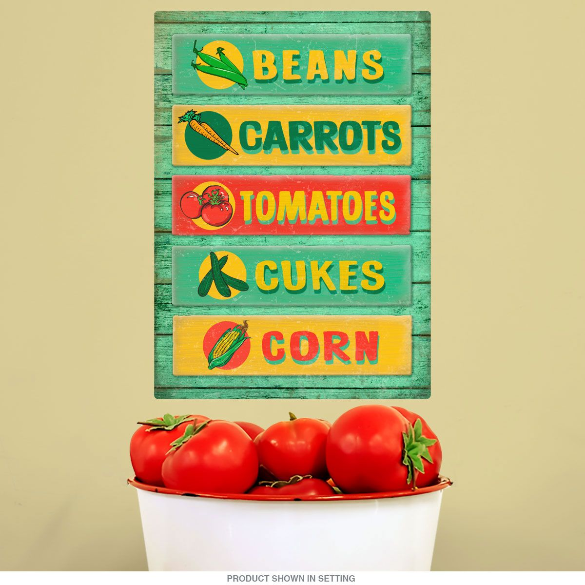 Farm Stand Vegetables Rustic Wall Decal | Farm stand, Removable wall ...