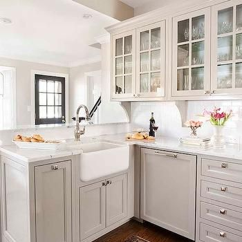 Best Light Gray Kitchen Cabinets Transitional Kitchen 400 x 300