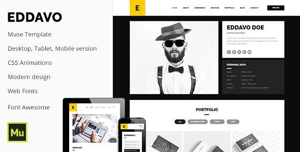 Eddavo - Agency Portfolio / CV / Resume Template Website-Templates