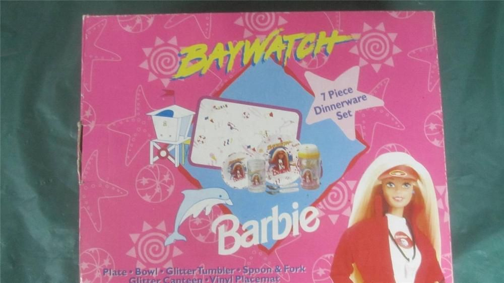 Details about Barbie Doll Baywatch 7-Piece Dinner Ware Set! Cup-Bowl-Plate! NIB & Details about Barbie Doll Baywatch 7-Piece Dinner Ware Set! Cup-Bowl ...
