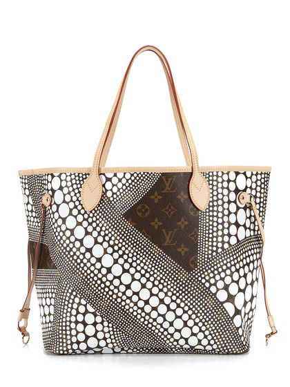 4ae384681ef3 Limited Edition Kusama White Neverfull MM by Louis Vuitton on Gilt ...