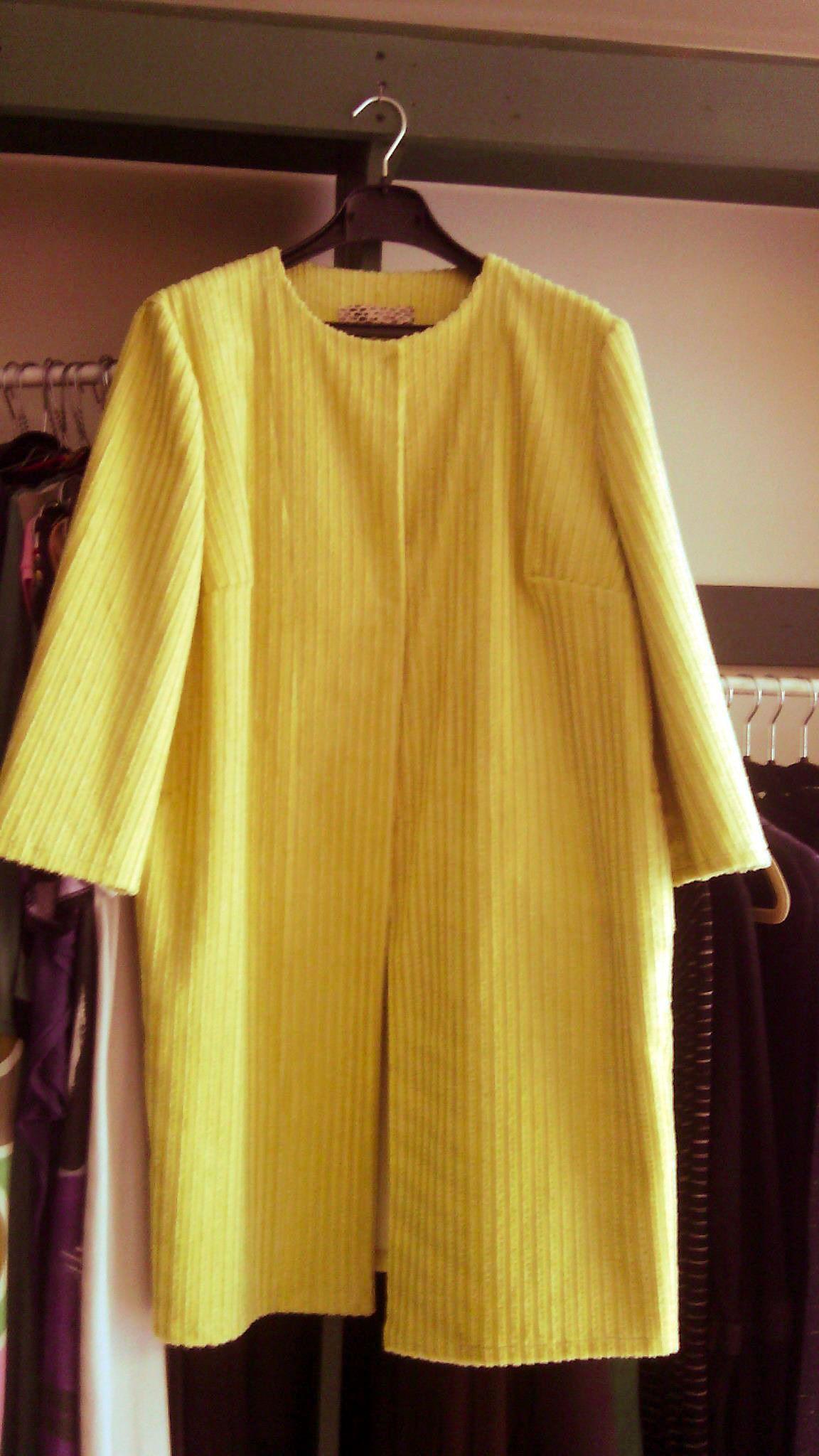 Vintage, dark yellow, fustian long coat