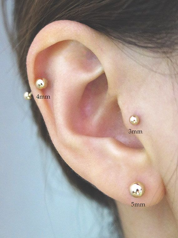 Ling Studs Earrings Hypoallergenic Cartilage Ear Piercing Simple Fashion Earrings Ear Jewelry 925 Sterling Silver Pearl Stud Earrings
