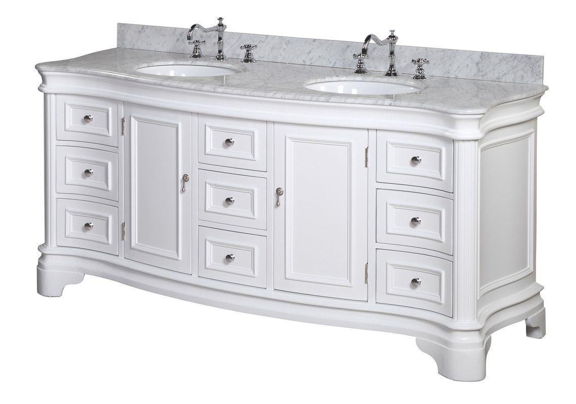 """KBC Katherine 10"""" Double Bathroom Vanity Set & Reviews  Wayfair"""