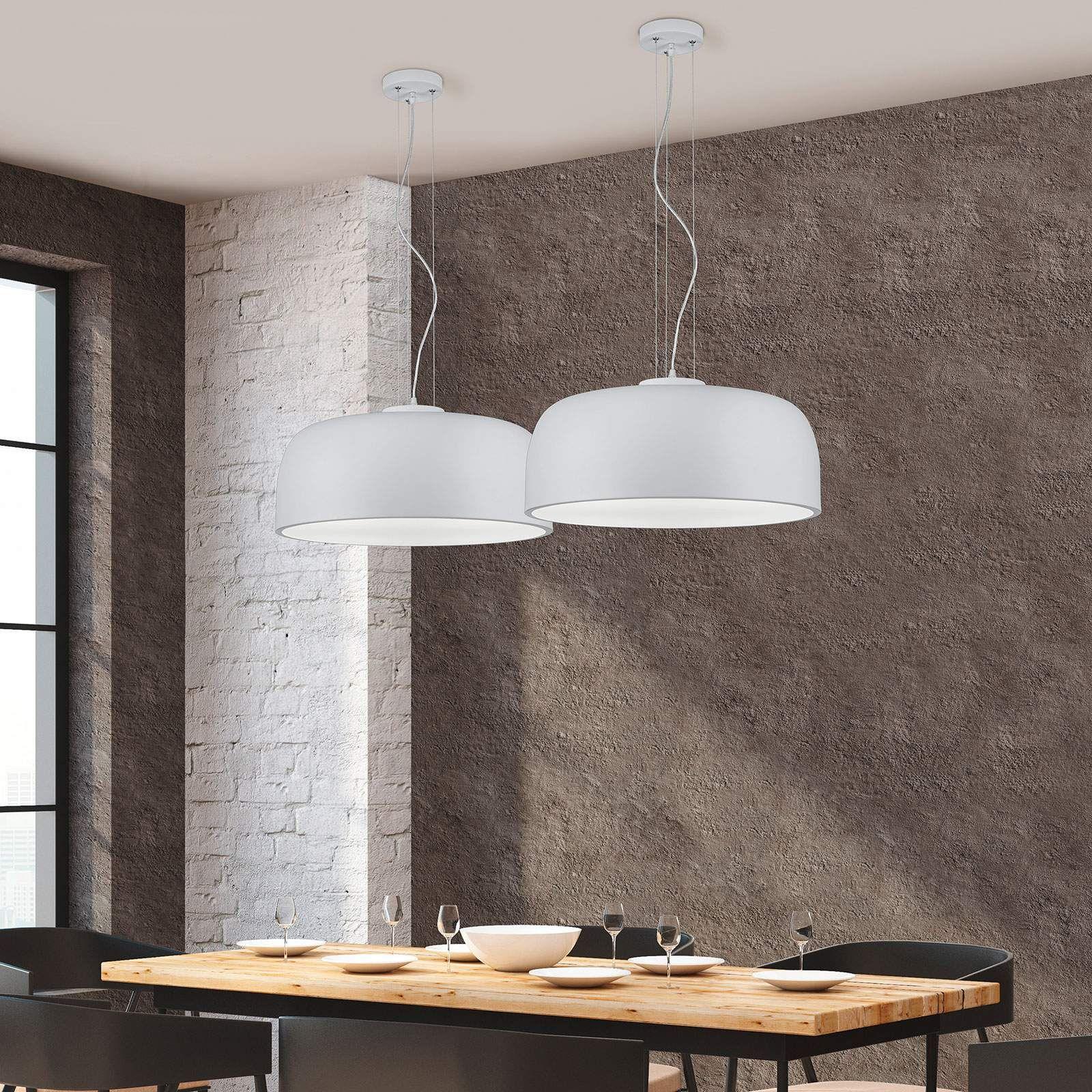 Schwarz matte Innenleuchte BARON zur Deckenmontage geeignet Metall Ø 52 cm