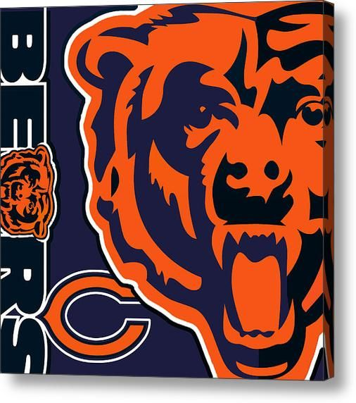 Chicago Bears Canvas Print / Canvas Art by Tony Rubino