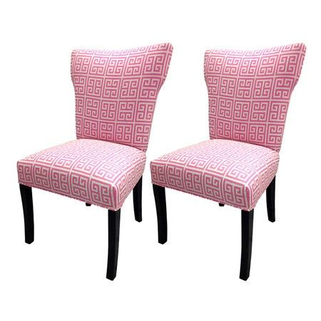 Chains Wingback Chair Pink Dining Chairs Accent Chair Set Wingback Chair