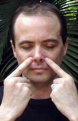 Facial exercises to help sinuses. Do it for a minute and breath thru your mouth while doing it.