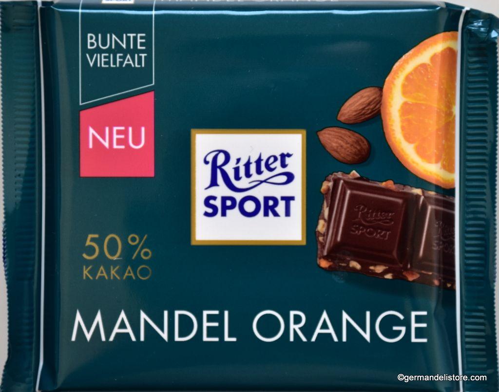 Ritter Sport Mandel Orange Almond Orange Dark Chocolate 100g In 2020 Chocolate Orange Chocolate Chocolate Drinks