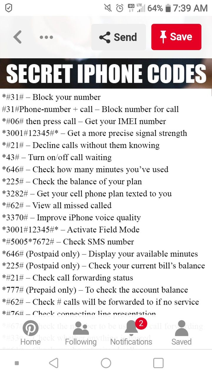 I phone Iphone codes
