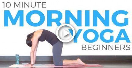 10 minute morning yoga for beginners  yoga anfänger yoga