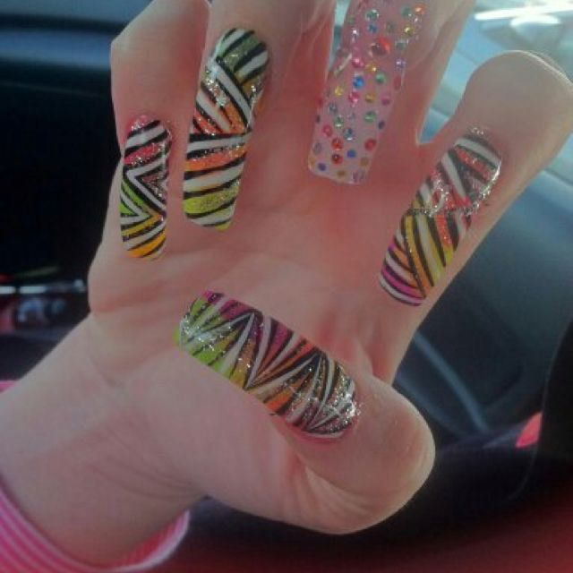 Piggieluv Freehand Stairway To Heaven Nail Art: Nails, Beauty, Painting