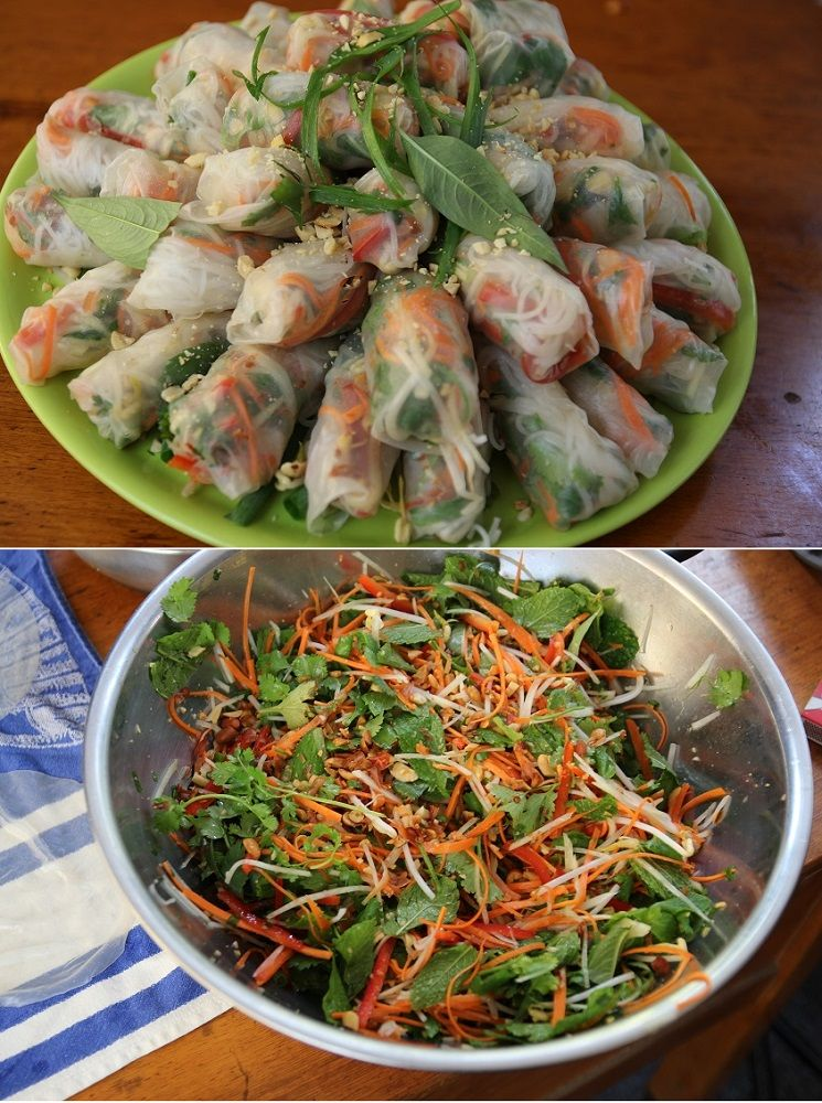 Vietnamese Rice Paper Rolls is part of Rice paper recipes, Asian recipes, Recipes, Vegetarian recipes, Food, Vietnamese rice paper rolls - This is a rough guide on how to make these rolls  Substitute with your own changes and additions  The important thing is how you treat the rice paper  This will determine what your rolls will be like   Remember they must be rolled on the day you use them  A fridge overnight will not work  If you need to refrigerate for a couple of hours cover them with a damp tea towel and put in the fridge  These are vegetarian, but they can be made with prawns, pork or duck  This recipe will make about 30 rolls
