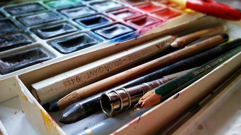 Matériel - Peindre sur le motif / Material - Painting on location