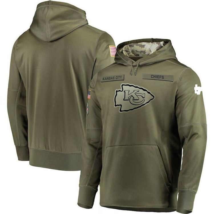 KANSAS CITY CHIEFS Salute to Service Therma Fit Hoodie 2018 Nike Military STS