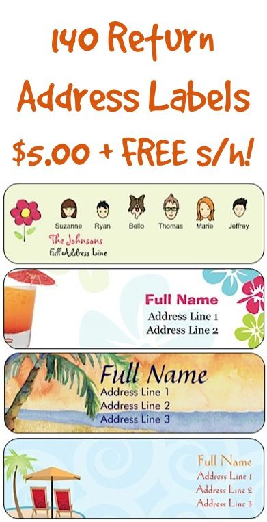 140 Return Address Labels for $5 00 + FREE Shipping! | For