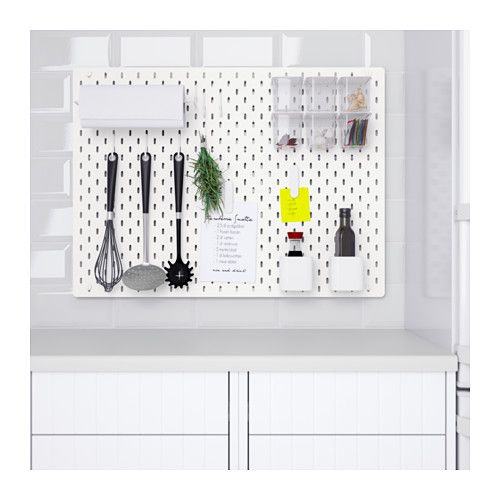 Skadis Ophangbord Combinatie Wit Ikea Peg Board Ikea Wall Storage