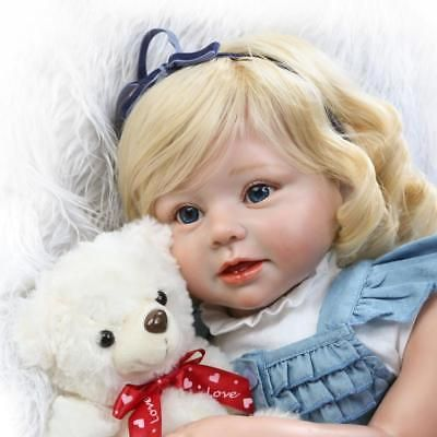 Realistic Life Like 28 Reborn Baby Doll Toddler One Year Old