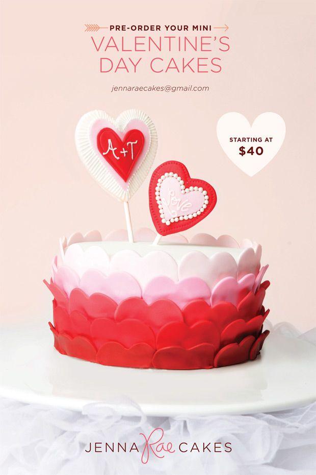 Blog One Plus One Design Valentine Cake Valentines Day Cakes Vintage Cake