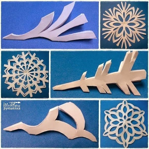 Schneeflocken aus Papier basteln- Anleitung-dekoking-com-9