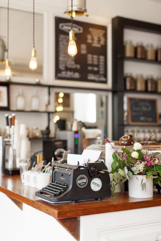 Heritage Bicycles General Store Med Billeder Kaffebar Tavle