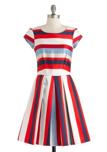 Nautical in the World Dress, #ModCloth