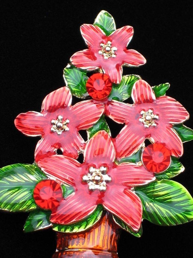 BUSH FLOWER PLANT TOPIARY RED POINSETTIA CHRISTMAS TREE