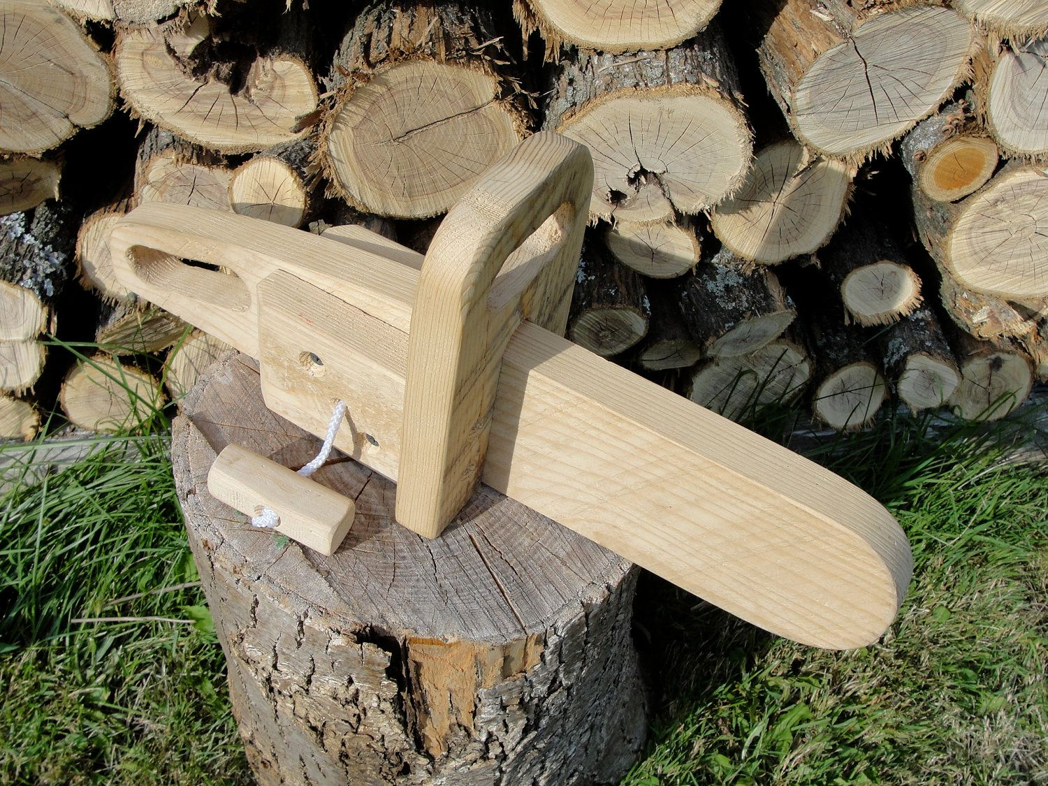 rustic wooden toy chainsaw | things for wee ones | wooden