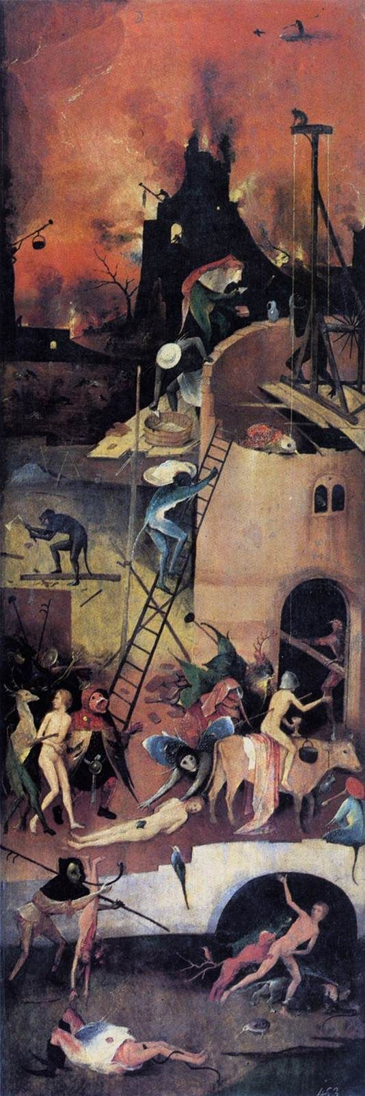 Triptych of Haywain (right wing)  Hieronymus Bosch, 1500