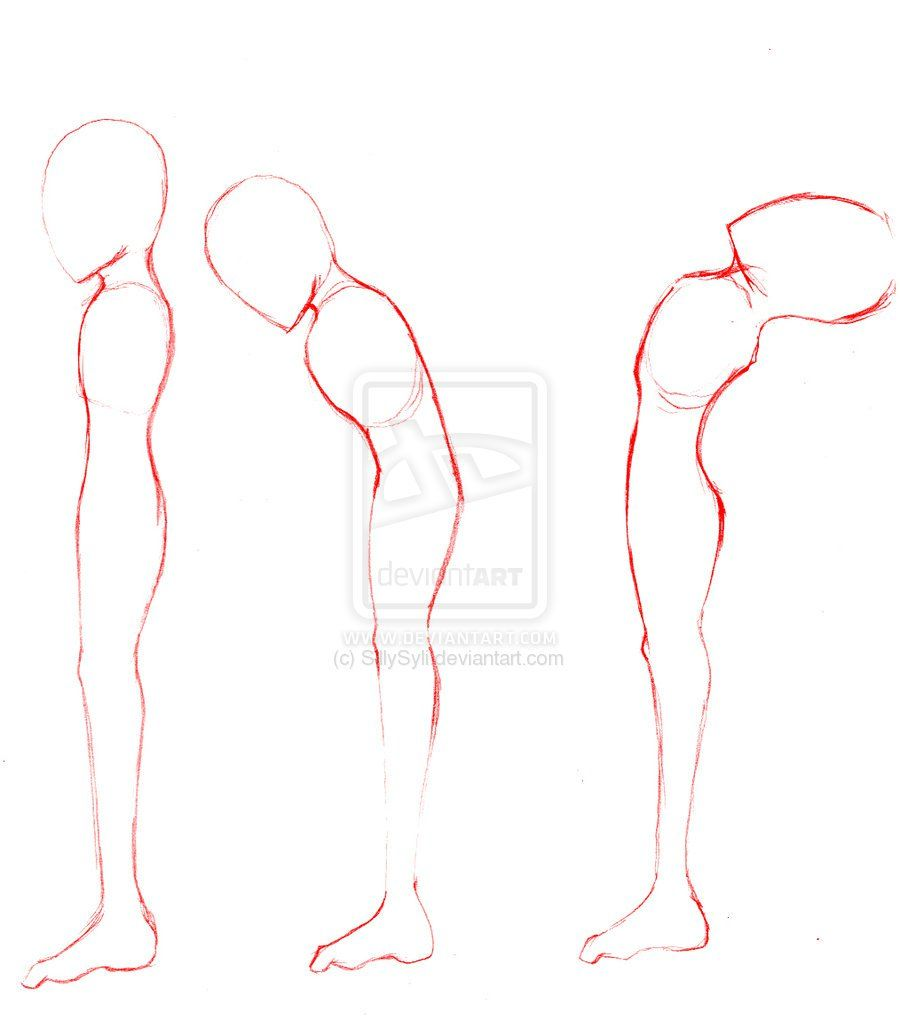 anime male body template side view body template by body in 2018