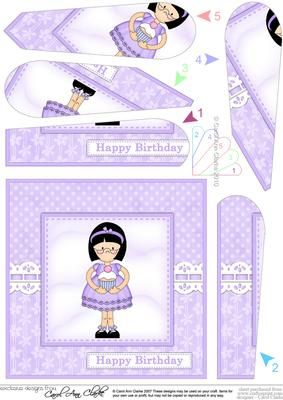 Girlz Roz s Cupcake Fan Pyramage Topper on Craftsuprint - Add To Basket!