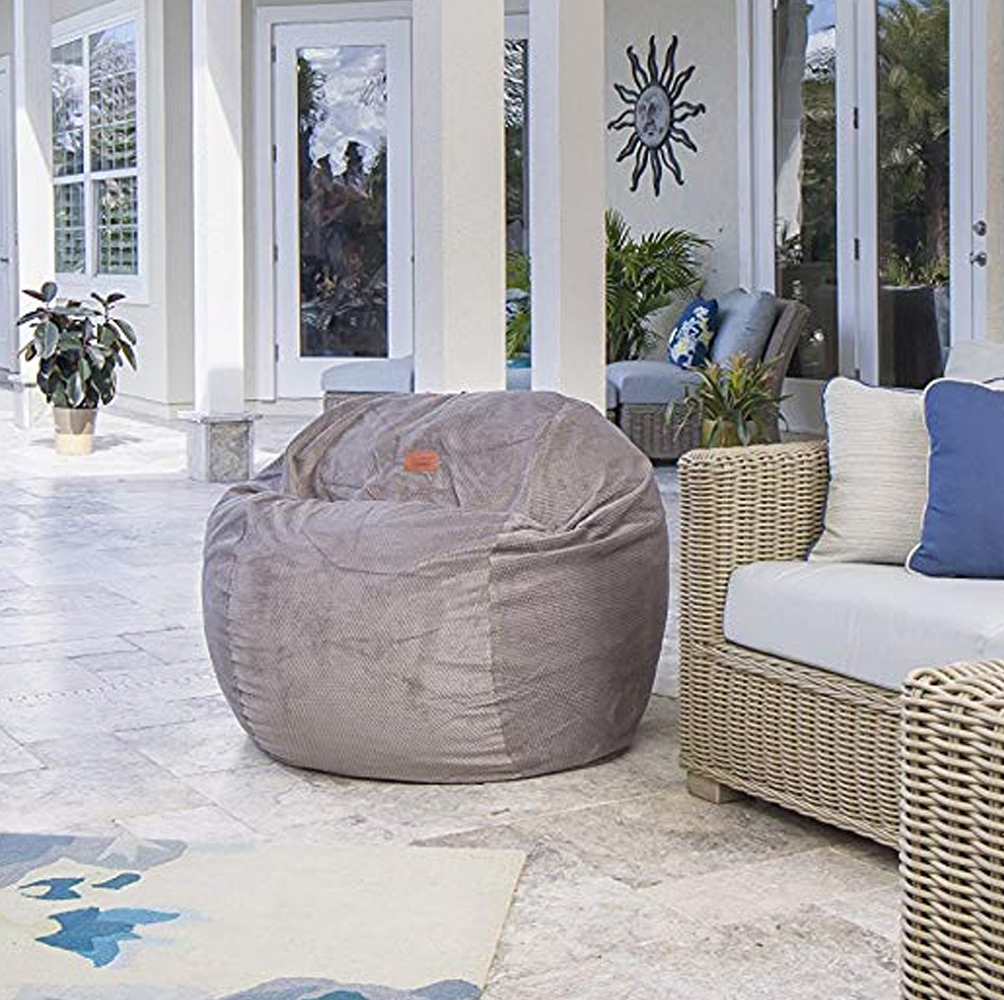 Bean Bag Chair With Footstool in 2020 Bean bag chair