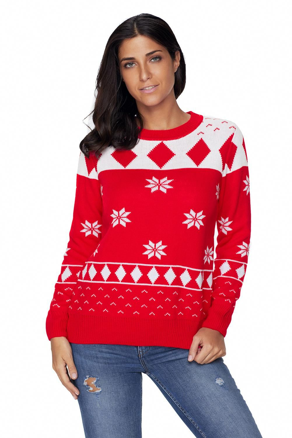 Red 3D Christmas Sweater [LC277873] 6.90 dailyshee