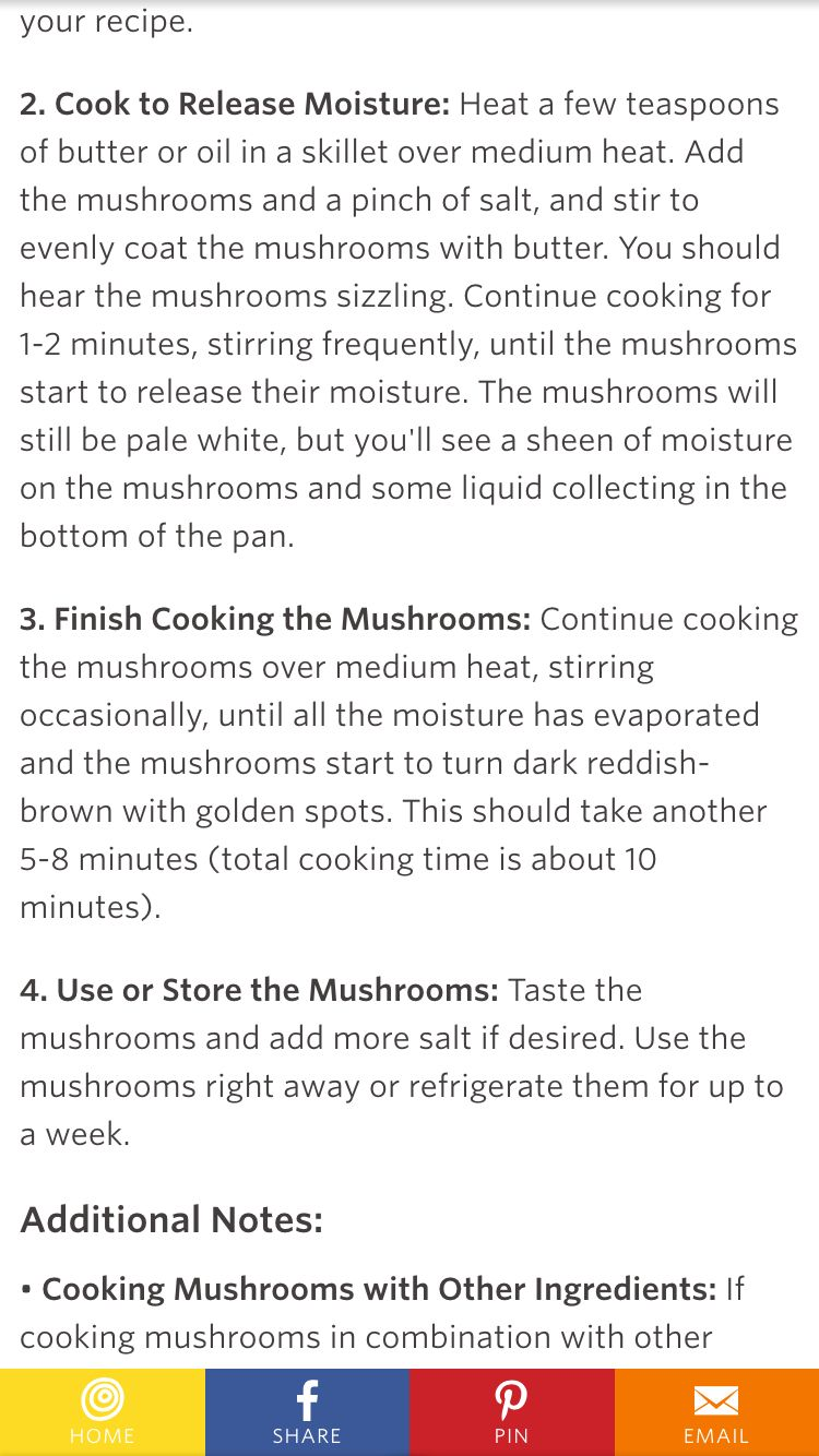 How to cook shrooms in the skillet
