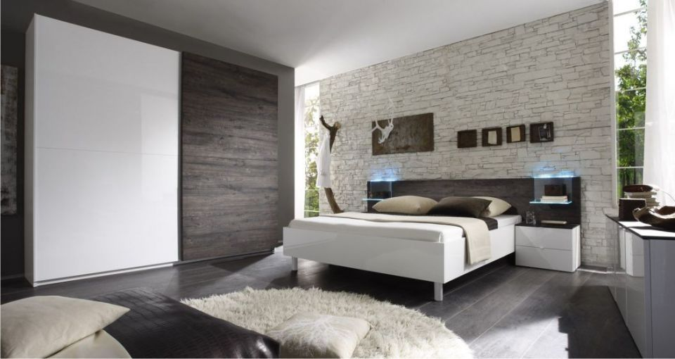 Camera da letto moderna rovere grigio e bianco laccato lucido dream house pinterest gray color color inspiration and bedrooms