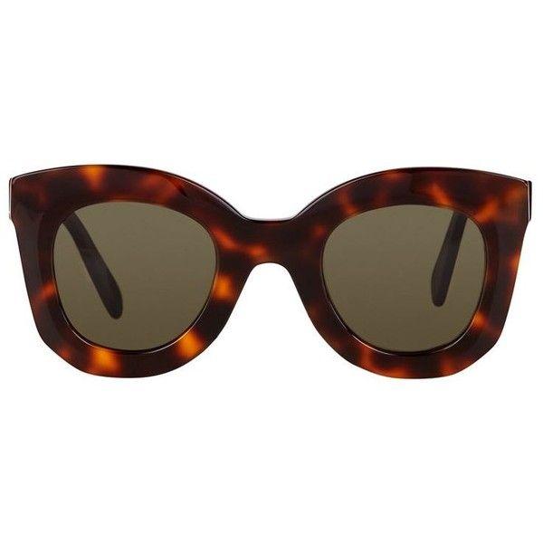 8cef66437fd2 Céline Marta Sunglasses (€255) ❤ liked on Polyvore featuring accessories,  eyewear, sunglasses, acetate sunglasses, celine sunglasses, cat eye  sunglasses, ...