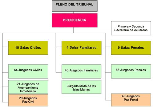 Poder Judicial Del Distrito Federal Estructura