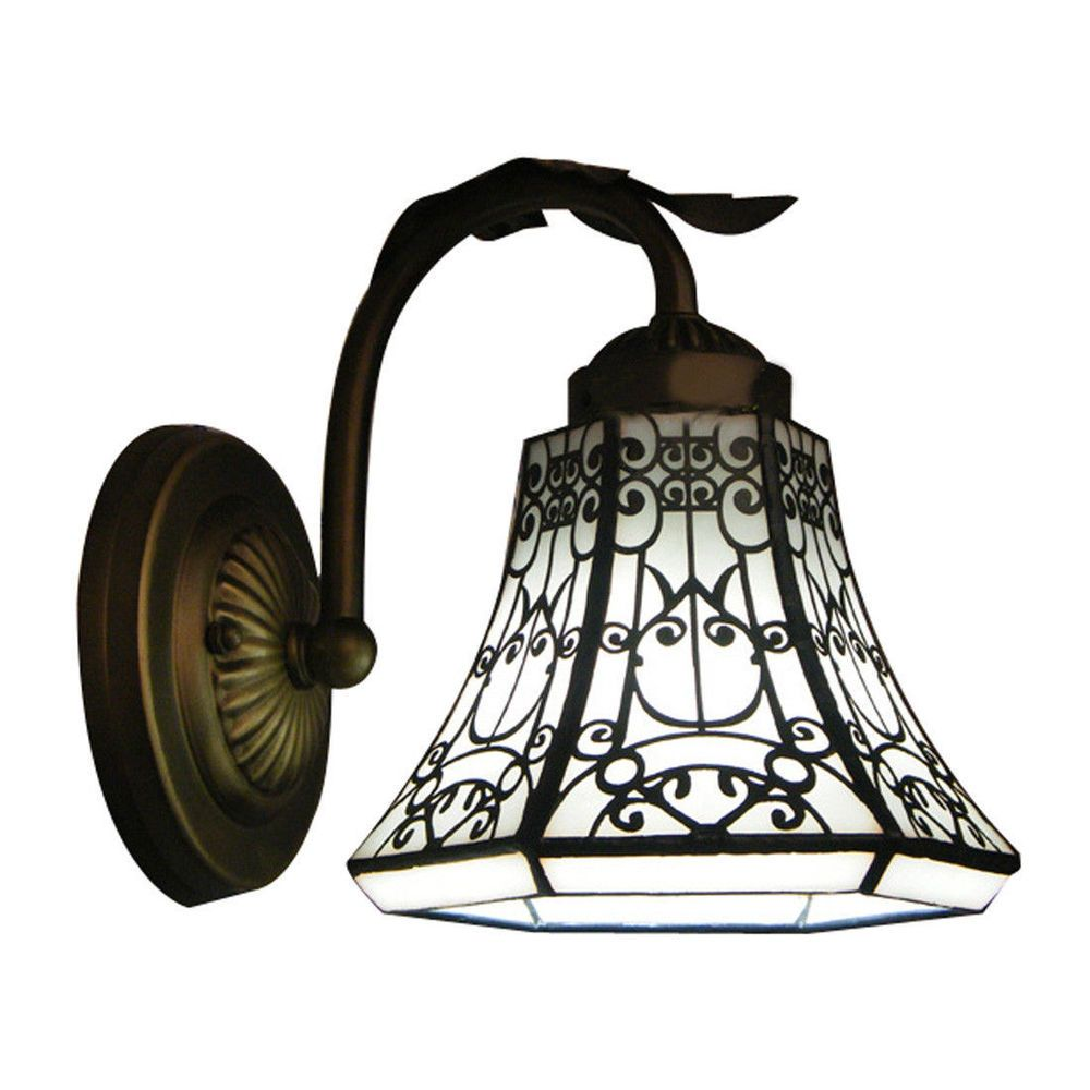 Tiffany style stained glass lamp shade wall sconce modern simple e26 tiffany style stained glass lamp shade wall sconce modern simple e26 wall light baycheer modern aloadofball Images