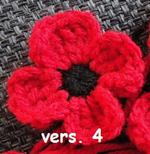 Free Pattern Crocheted Poppies 5 Different Versions Crochet
