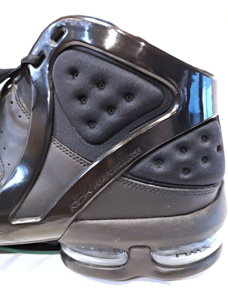 c7b7705f9a32 REEBOK RBX BLACK Silver Basketball TEAM Sports DMX High top SHOE MEN Size 17  +  Reebok  BasketballShoes