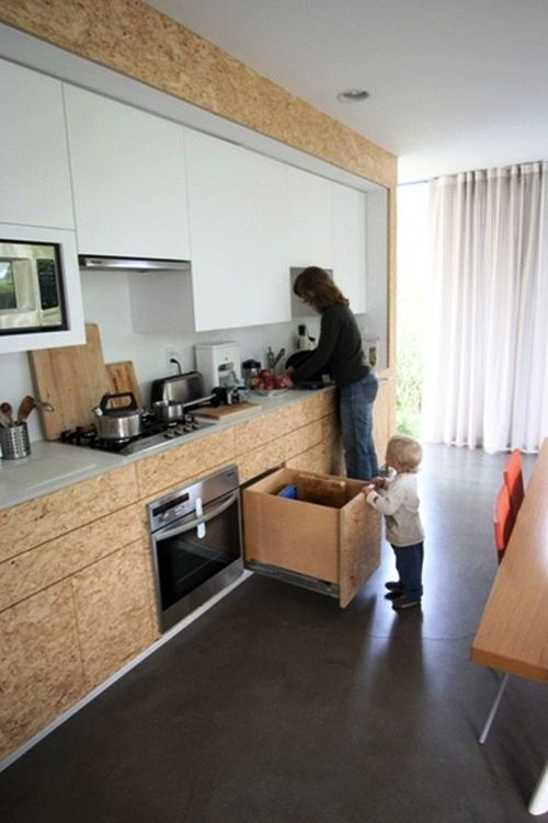 OSB Platten Innenausbau küchenschränke Kitchen