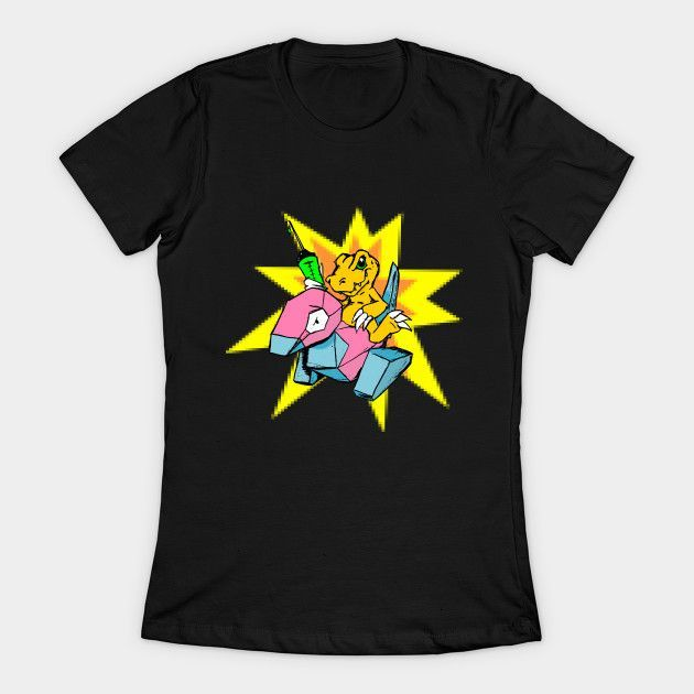 Digital Monsters Womens T-Shirt