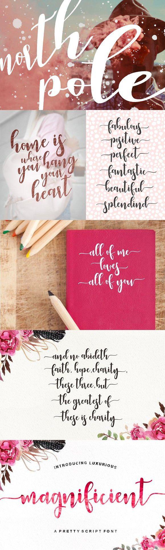 Magnificient Script Christmas Fonts Love Is All Brush Font