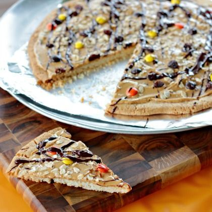 Top this sweet pizza any way you like, Halloween-style or monster - halloween entree ideas