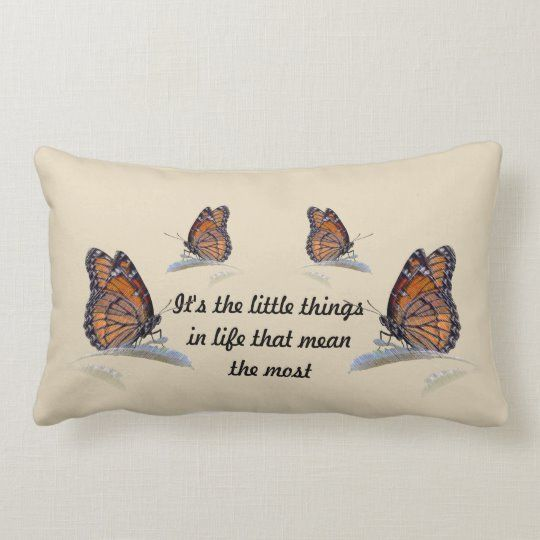 It S The Little Things In Life That Mean The Most Lumbar Pillow Zazzle Com In 2020 Pillows Lumbar Lumbar Pillow